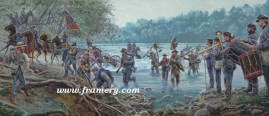 "MARYLAND, MY MARYLAND Lee's army crosses the Potomac, June 25, 1863 Image size 13 X 31"" In stock and available Current price - $225"