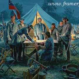 SHARPSBURG WAR COUNCIL Lee and his commanders plan the Battle of Sharpsburg, Md., Sept. 17, 1862 In stock and available - Current price - $200
