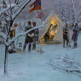 STRATEGY IN THE SNOW Lee and Jackson plan a defensive strategy at Fredericksburg, Va., November 29, 1862. In stock and available Current price - $550