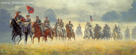 STUART'S RIDE Brig. Gen J.E.B Stuart and his cavalry ride 100 miles in three days to raid enemy supplies, June 13, 1862. Call for current price and availability.
