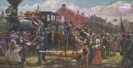 VICTORY RODE THE RAILS Jackson at Piedmont Station, July 19, 1861 In stock and available Current price $225