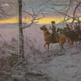 WHILE THE ENEMY RESTS Lt. Col. Mosby observes enemy encampments at Paris Mountain, Va., Dec. 1, 1864. Current price - Call