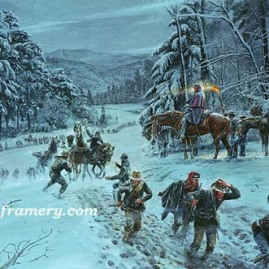 "THE WINDS OF WINTER Gen. ""Stonewall"" Jackson's men march day and night to rout Federal forces from the Shenandoah Valley, January 1862 In stock and available Current price - $200"